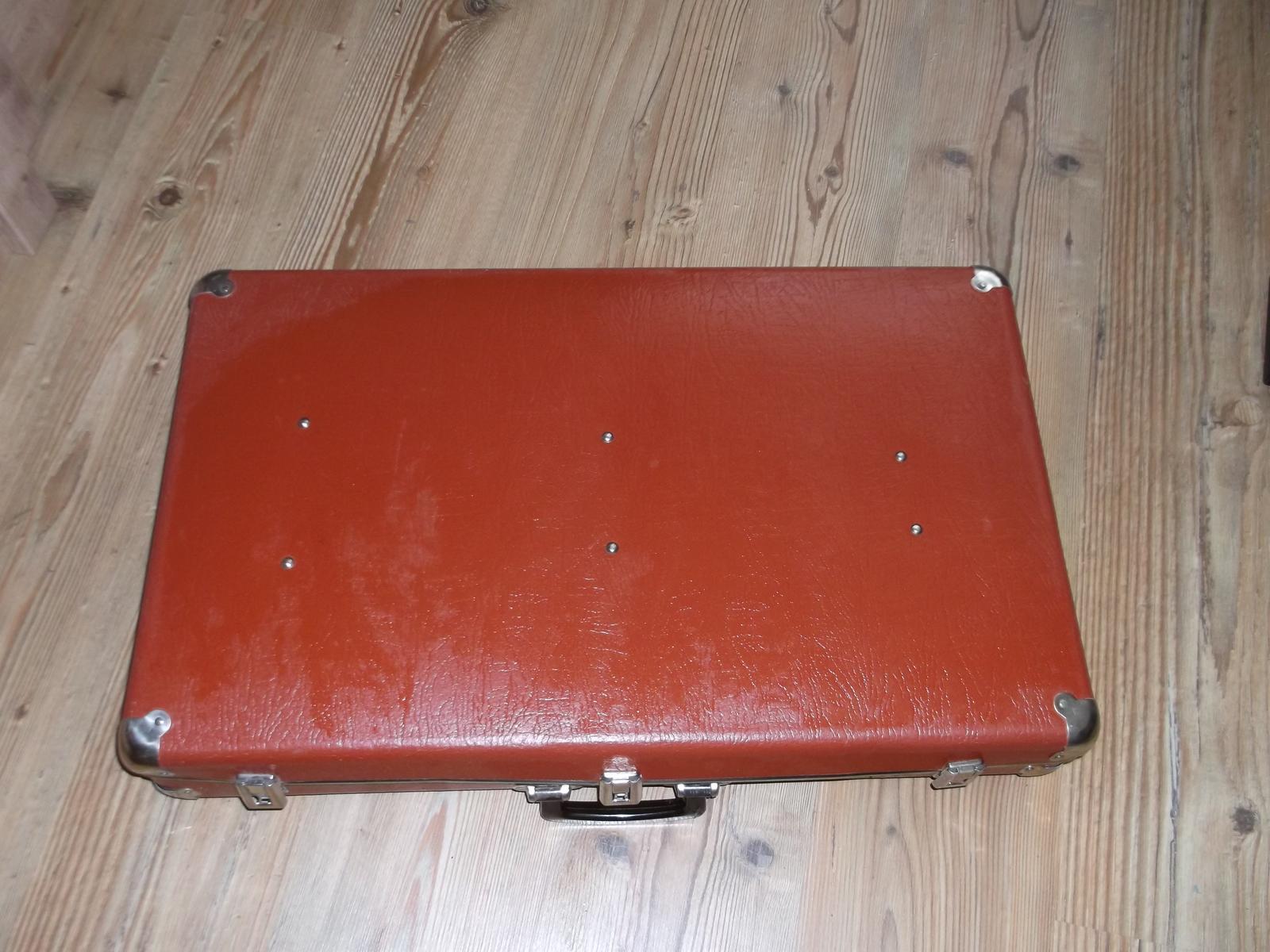 Staré hnedé kufre - 4 kusy - Obrázok č. 1