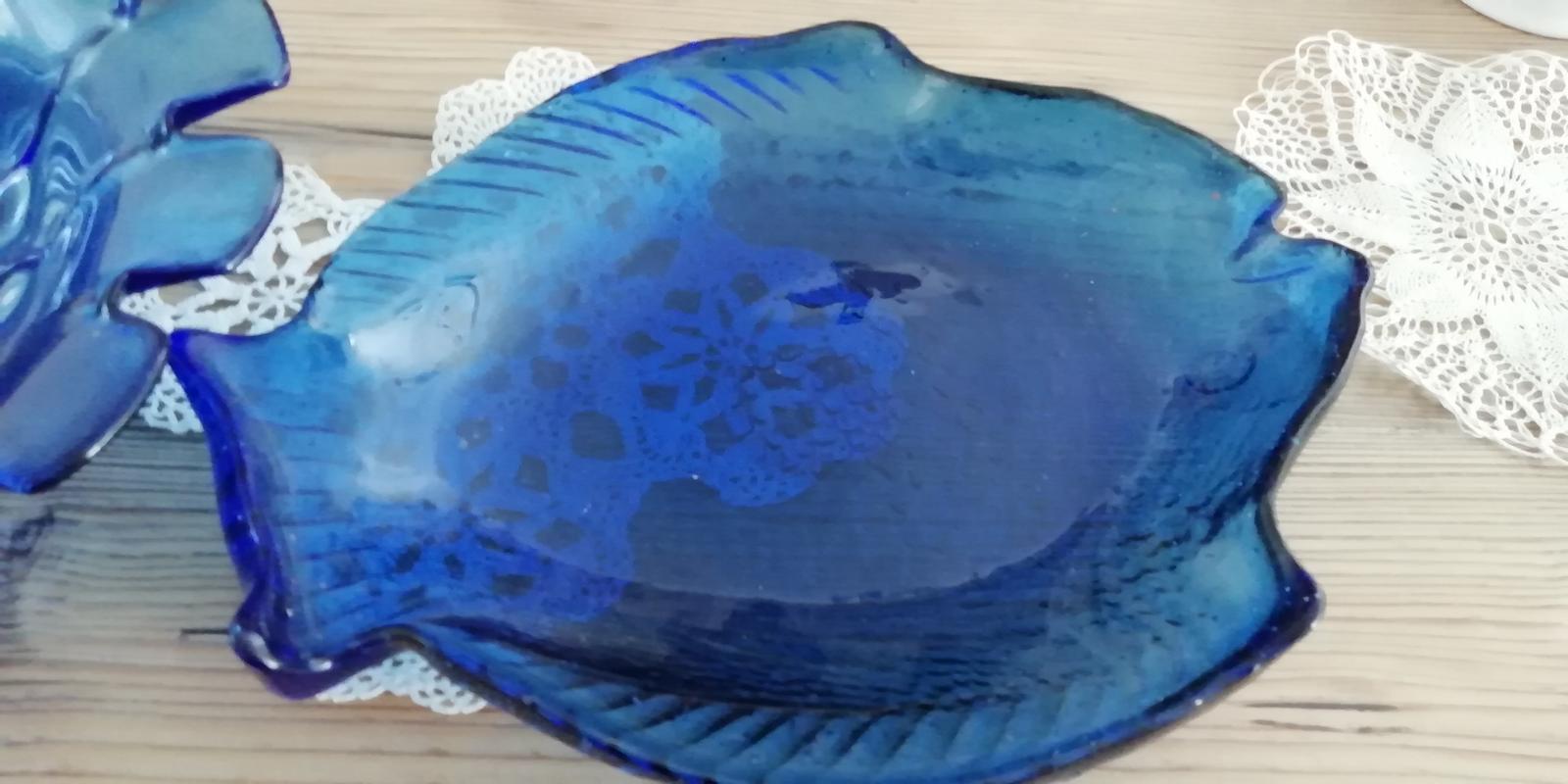 Modré hutné sklo - Obrázok č. 3