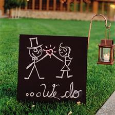tabule od ženicha, kresbička do nevěsty :o)