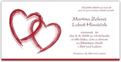 Naša svadba 20.9.2008 - oznámenie takéto...