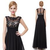 Spoločenské šaty čierne _ veľ. 38-40 do 48 hod., L