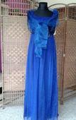 Spoločenské šaty modré - L -XL, L
