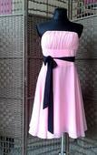 Krátke spoločenské šaty ružové _ veľ. 34-38 , M