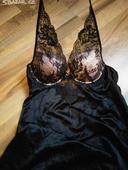 Saténová černá košilka Etam , 38