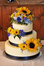 Jen bych dala přednost marcipánovým květinám, živým květům na dortech moc nefandím i když jsou krásné...
