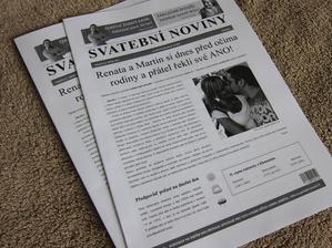 Svatební noviny - už se těším až si s nima vyhraju:)