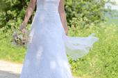 Čipkové svadobné šaty, znížená cena, 38