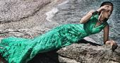 Spoločenské šaty Fayazi - zelené-veľkosť 38,