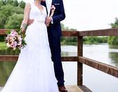 Čipkové svadobné šaty, 36