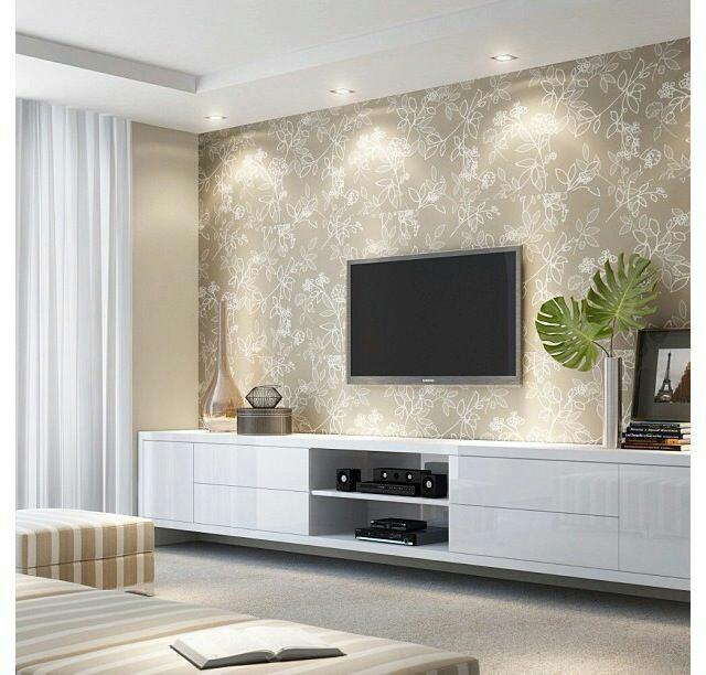 Jak bych si představovala náš sen :-) - Obyvaci stěna musí byt na stěně a presne toto i s tou tapetou je super