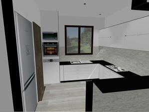Asi tak nějak, by mela nebo mohla vypadat naše kuchyň.  .
