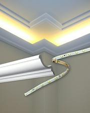 Výborný a jednoduchý nápad na led osvětlení stropu. .... 👌😉