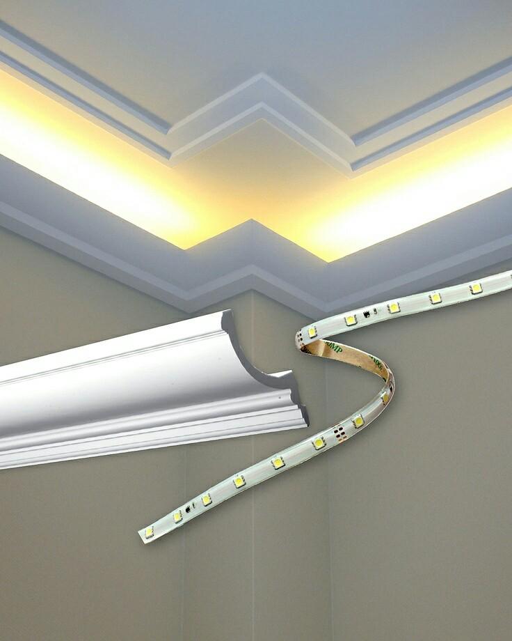 Jak bych si představovala náš sen :-) - Výborný a jednoduchý nápad na led osvětlení stropu. .... 👌😉