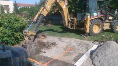 Příprava na studnu 23.8.2017