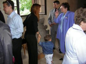 přítelova mamka a svědek s manželkou a synem