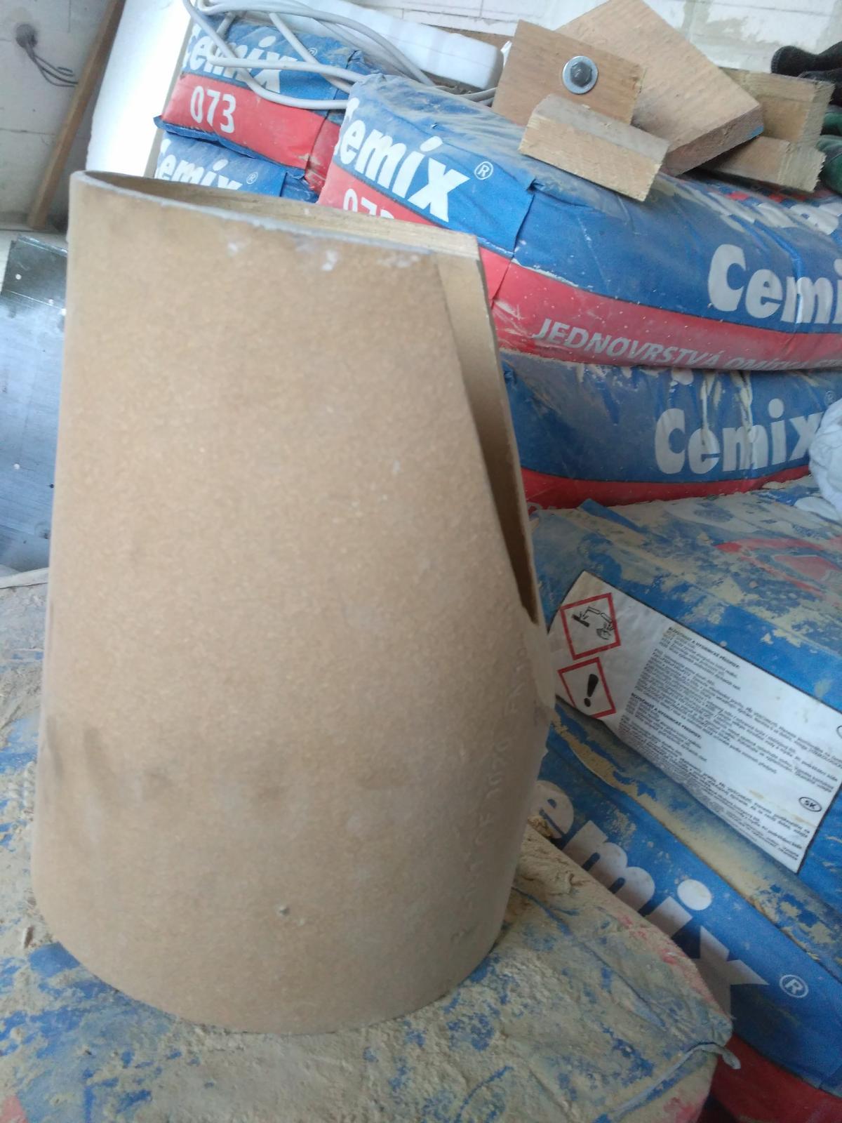 Oprava keramického komínu - Boční pohled na nový úhel