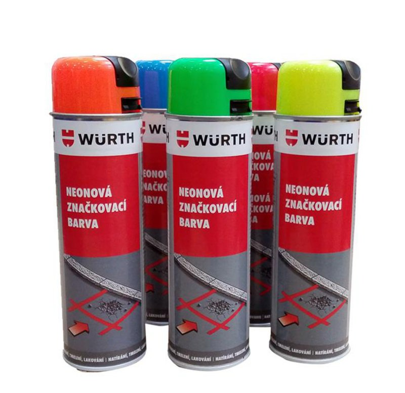 Bez čeho by se mi stavělo hůř ... - Značkovací spreje - alespoň 2 barvy - zelená + oranžová nezklamou - od 90Kč za kus
