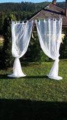 Stojan s poťahom na svadbu v exteriéri či interiér,