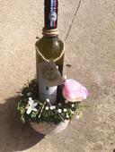 Machové vintage stojany na víno, či inú fľašu,