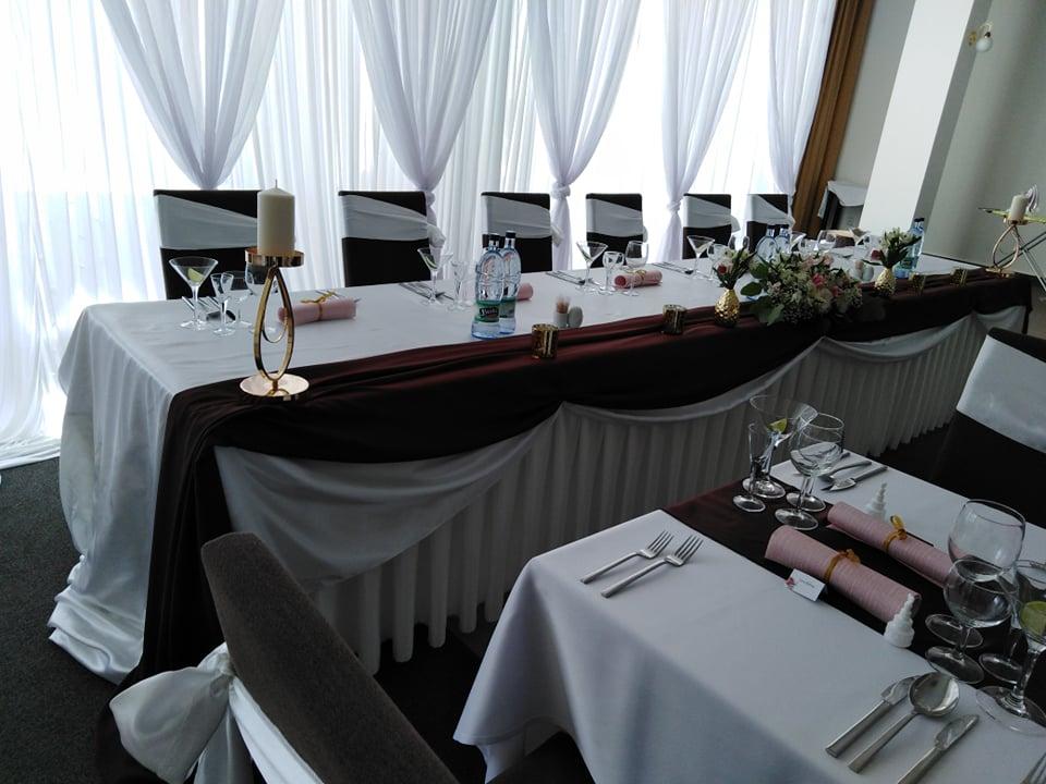Sifon cokoladovo hnedy na hlavny stol  - Obrázok č. 1