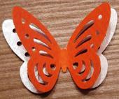 Papírový výsek - motýlci perleťovo-oranžoví ,