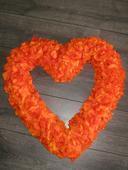 Srdce nejen na auto cca 60x60 cm, oranžové, 2ks,