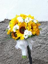 Květiny budou všechny ze slunečnic....