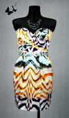Různobarevné šaty s kapsičkami vel 40, 40