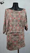 Elastické puntíkované  letní šaty vel 36-38, 36