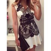 Bílé elegantní šaty vel 46, 46