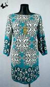 modro-zelené vzorované šaty vel 48, 48