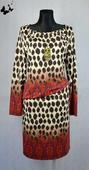 Elastické tygrované šaty vel 46, 46