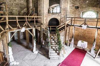 Místo obřadu - zámecká kaple Kačina
