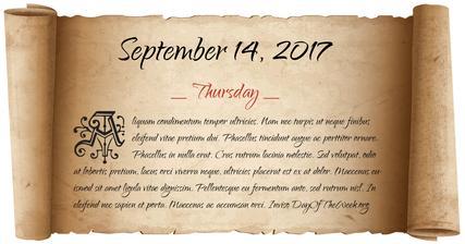 Naše datum, 14. září 2017