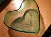 Zelená miska srdce,