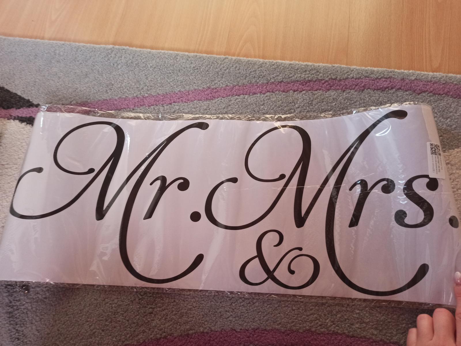 Nálepka na zeď Mr a Mrs - Obrázek č. 1