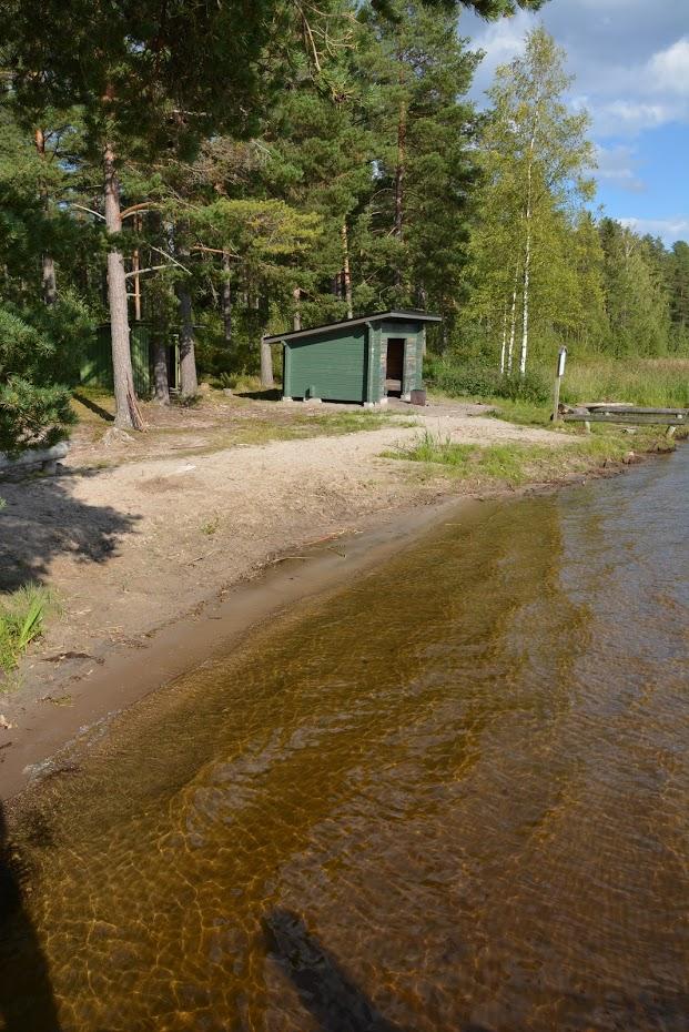 Saarimökki - ... s písečnou pláží...