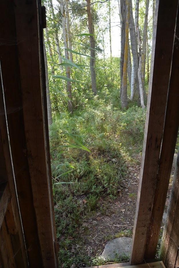 Saarimökki - Výhled ze záchodu :D