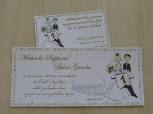 oznámení a pozvánky na veselici jsou vytisklé