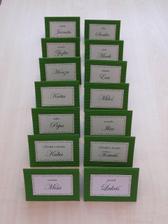 kartičky ke svatebnímu obědu