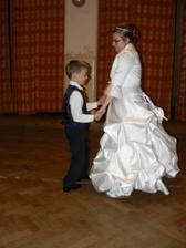 můj tanečník po zbytek večera :-)