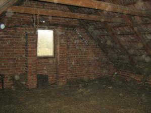 V podkroví budou dva pokojíčky.