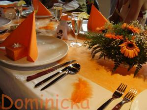 detail dekorace stolu