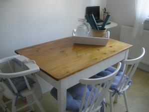 novy obnoveny kuchynsky stol