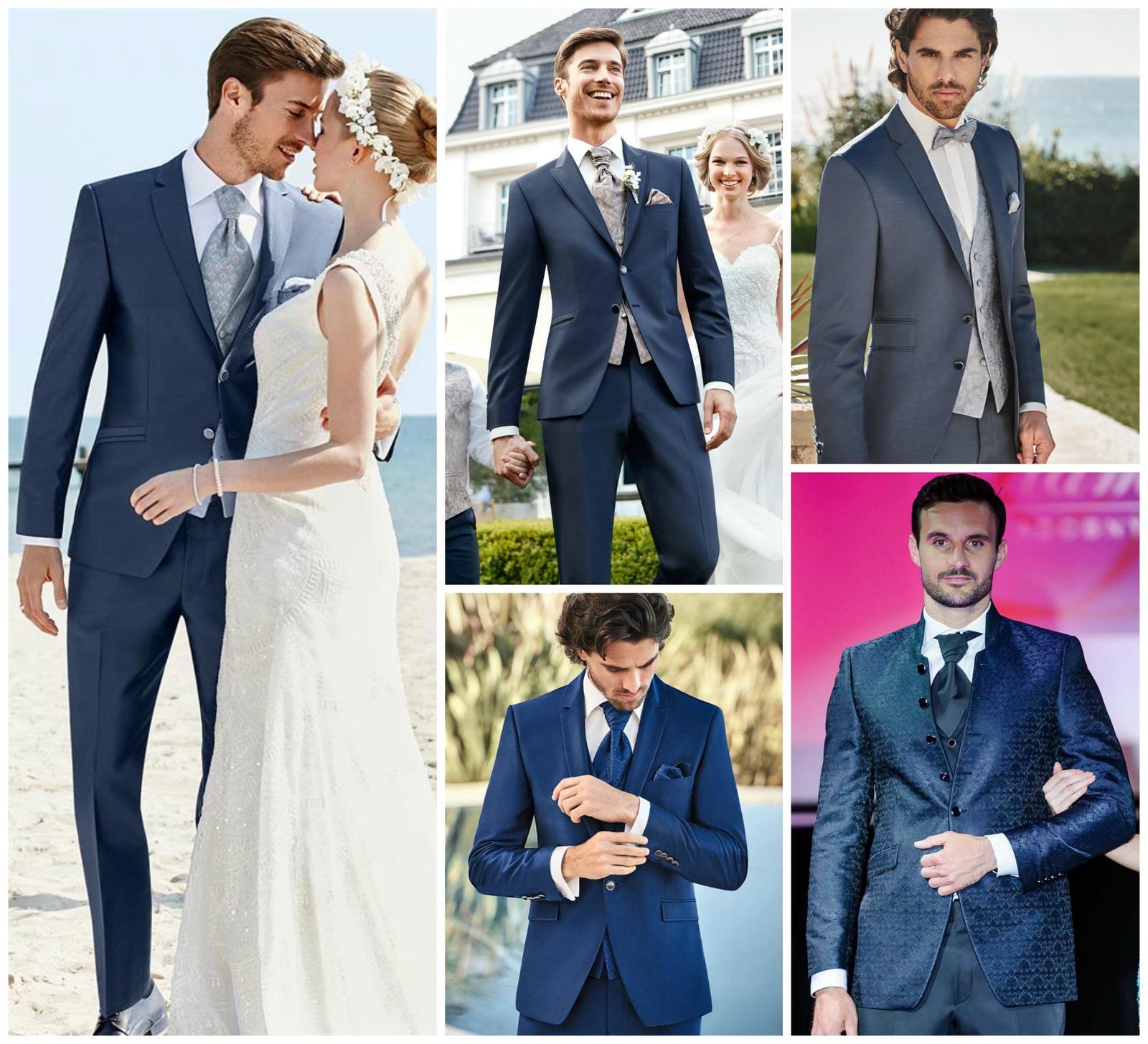 """Obľúbená modrá farba na svadobných oblekoch Wilvorst - aby aj Váš ženích bol v deň """"D"""" výnimočný... - pánske obleky prestížnej značky WILVORST"""
