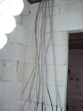 Ten kabel na lavo vedie k rychlovarnej konvici.