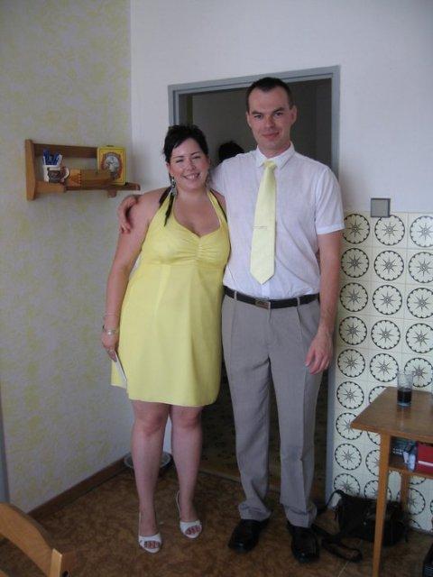 Květnová svatba 3.5.2008 - Pet'a a Míša - můj budoucí nastavájící manžel:)