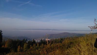 pohlad na K.Vary a Krusne hory :)