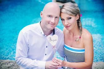 ...včera jsme měli 3. výročí svatby.....KNOFLÍKY LÁSKY...