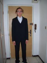 A hento som ja v obleku, ktorý budem mať na svadbe.